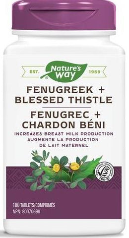 Nature's Way Fenugreek & Blessed Thistle 180 Capsules