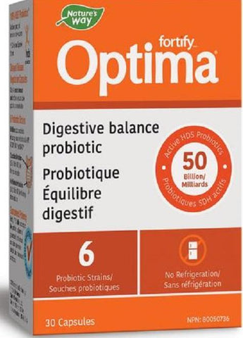 Nature's Way Optima Digestive Balance 50B 30 Capsules
