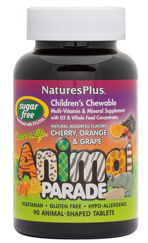 Nature's Plus Animal Parade Multivitamin Sugar Free 90 Animal Shape Chew Tablet