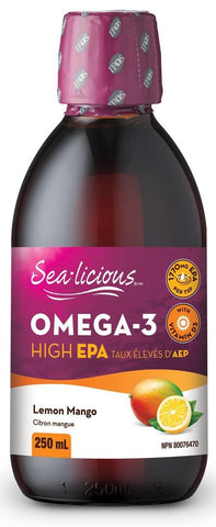 Sea-licious Omega 3 High EPA Lemon Mango 250ML