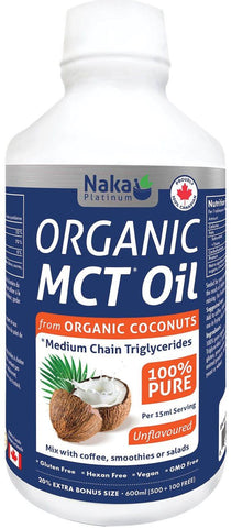 Naka Organic MCT Oil 600ML