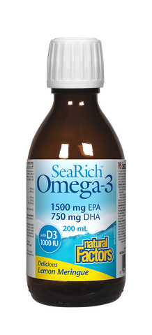 Natural Factors SeaRich Omega 3 1500mg EPA 750mg DHA Lemon 200ML