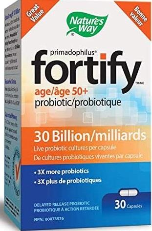 Nature's Way Fortify 50+ Probiotic 30 Capsules