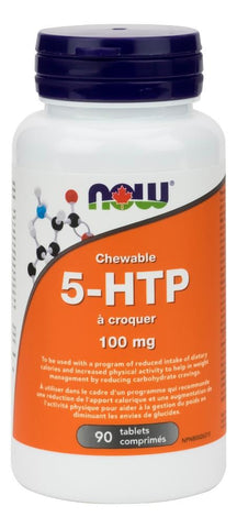 NOW 5-HTP 100MG 90 Chewable Tablets