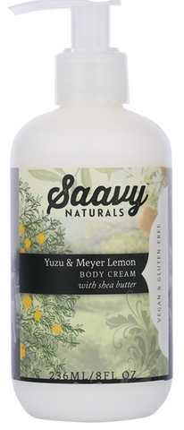 Saavy Yuzu & Meyer Lemon Body Cream 236ML