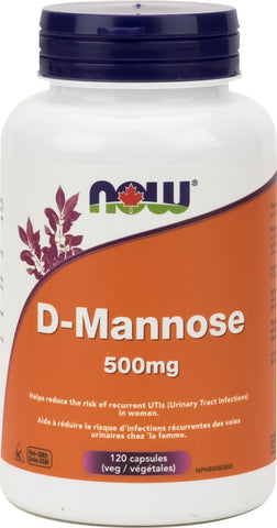 NOW D-Mannose 120 Veggie Caps