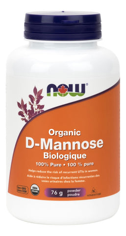 NOW Organic D-Mannose Powder 75G