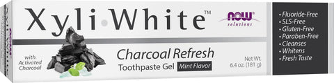 NOW Xyliwhite Charcoal and Mint Toothpaste 181G
