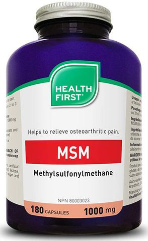 Health First MSM 180 Caps