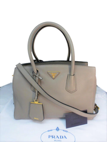 f3df38a1a0d55 Prada Saffiano Leather Crossbody Tote Bag – Creme de la Creme ...