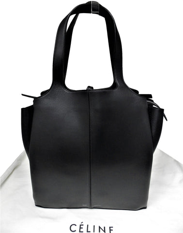 New Céline Leather Black Hobo Bag