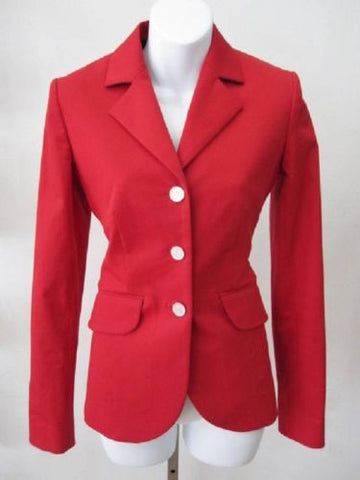 Hermes Sellier Ruby Red Blazer Size 36 - Creme de la Creme Consigners: Pre Owned Handbags, Used Handbags, Luxury Consignment