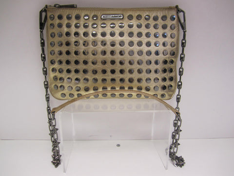 Rebecca Minkoff Gold Metallic Studded Rocker Crossbody Bag - Creme de la Creme Consigners: Pre Owned Handbags, Used Handbags, Luxury Consignment