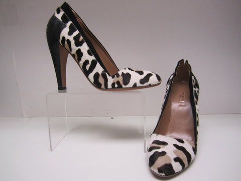 f58d602907f3c Alaia Ponyhair Leopard Print Pumps With Embossed Leather Covered Stiletto  Heels - Creme de la Creme