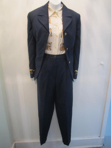 Cento X Cento 3 PC Blue Pant Suit - Creme de la Creme Consigners: Pre Owned Handbags, Used Handbags, Luxury Consignment