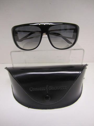 Cesare Paciotti Black Sunglasses With Gold Hardware CPS 046 001 - Creme de la Creme Consigners: Pre Owned Handbags, Used Handbags, Luxury Consignment