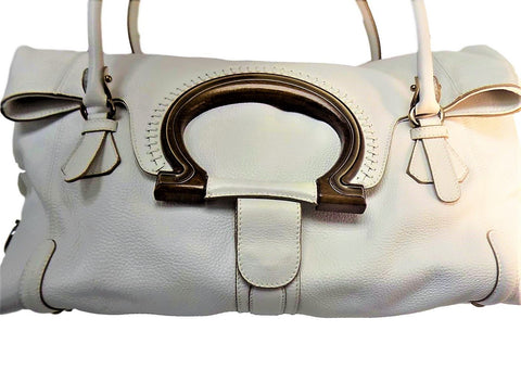 Ferragamo Salvatore Tote Leather Bag - Creme de la Creme Consigners: Pre Owned Handbags, Used Handbags, Luxury Consignment