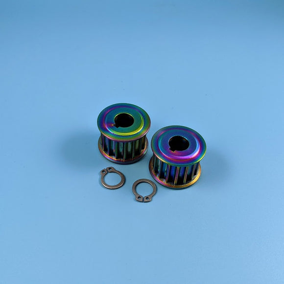 16T Titanium Motor Pulleys (Pair)