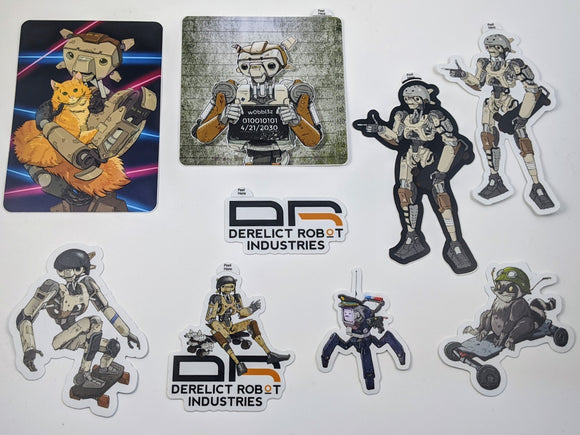 Derelict Robot Sticker Packs