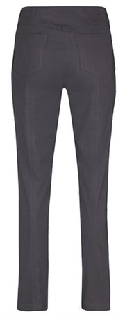 CHARCOAL GREY BELLA FULL LENGTH TROUSERS