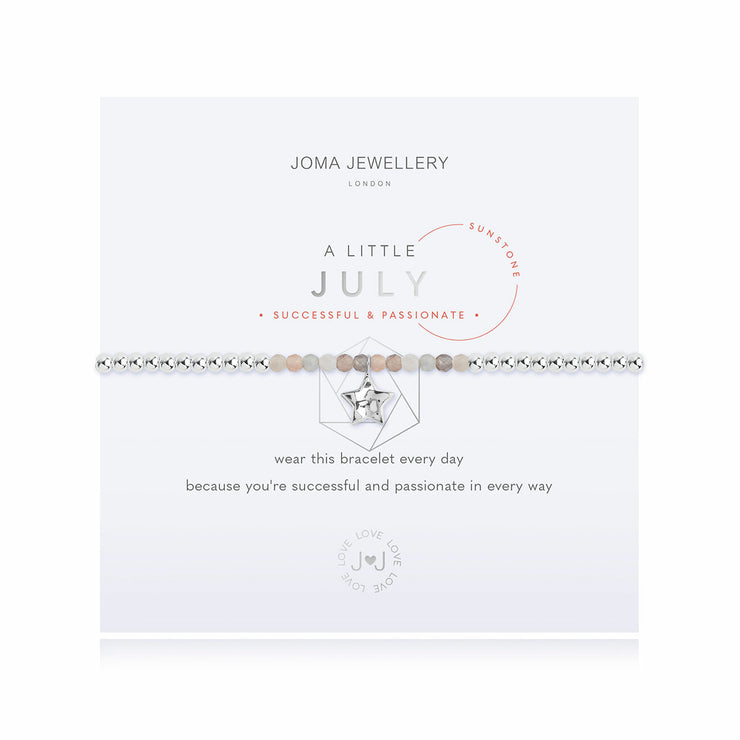 JOMA JEWELLERY | A LITTLE BIRTHSTONE JULY BRACELET