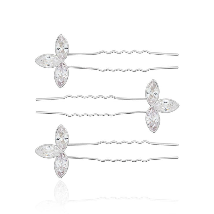 JOMA JEWELLERY | HAPPY EVER AFTER LEAF HAIR SLIDES