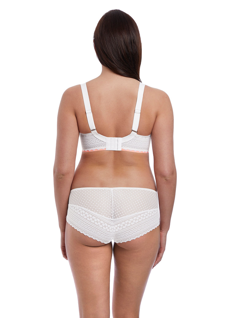 WHITE DAISY LACE SHORT BRIEF