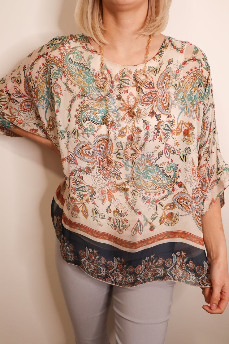 PAISLEY SILK TOP