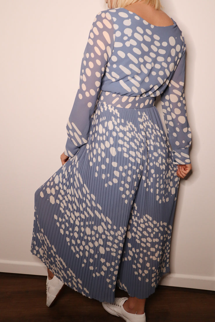 POLKA DOT PLEATED JUMPSUIT
