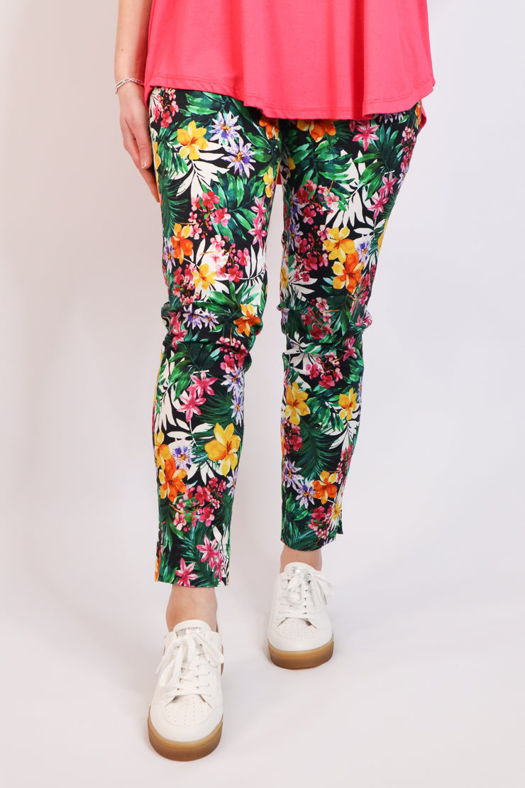 TROPICAL PRINT ROSE 09 TROUSERS