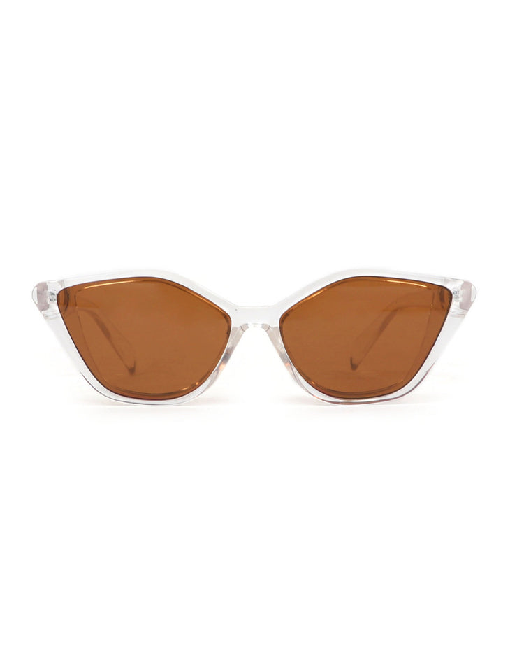 CLEAR VALENTINA SUNGLASSES