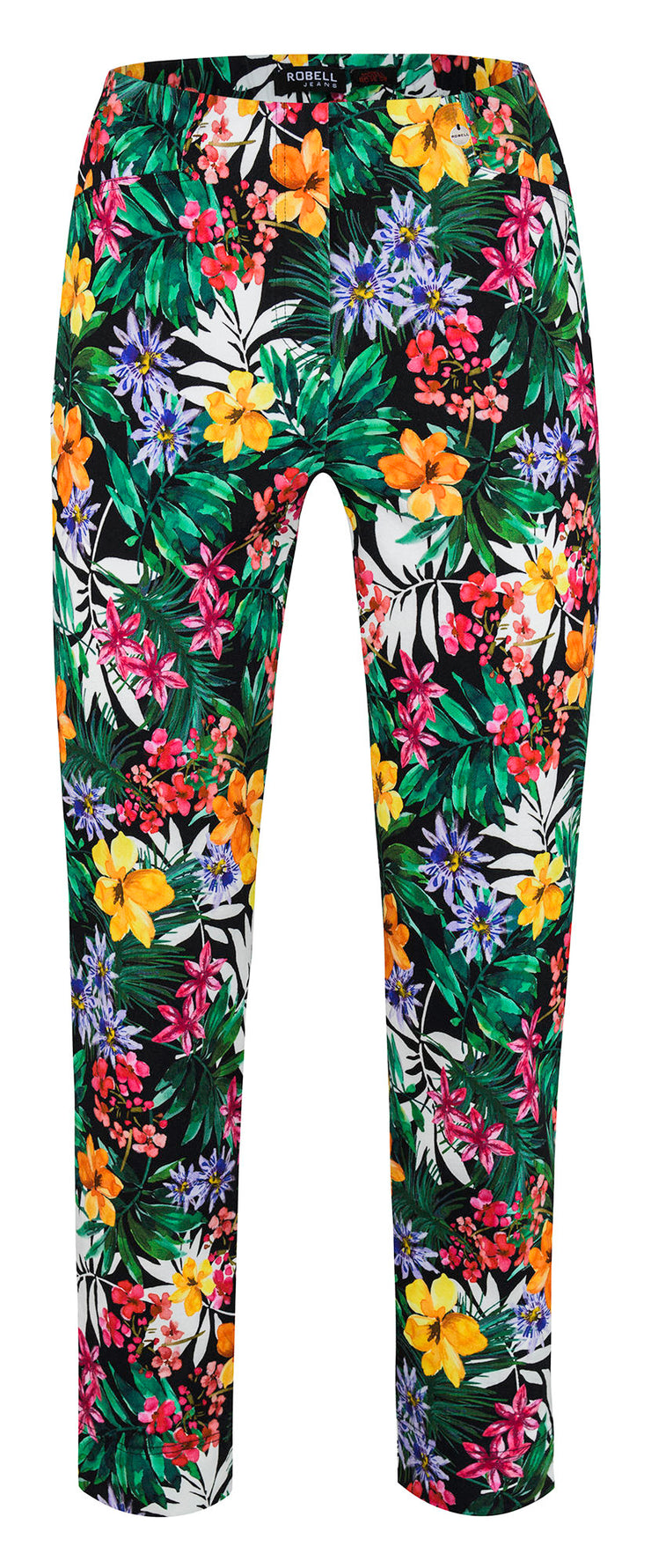 ROBELL | TROPICAL PRINT BELLA 09 TROUSERS