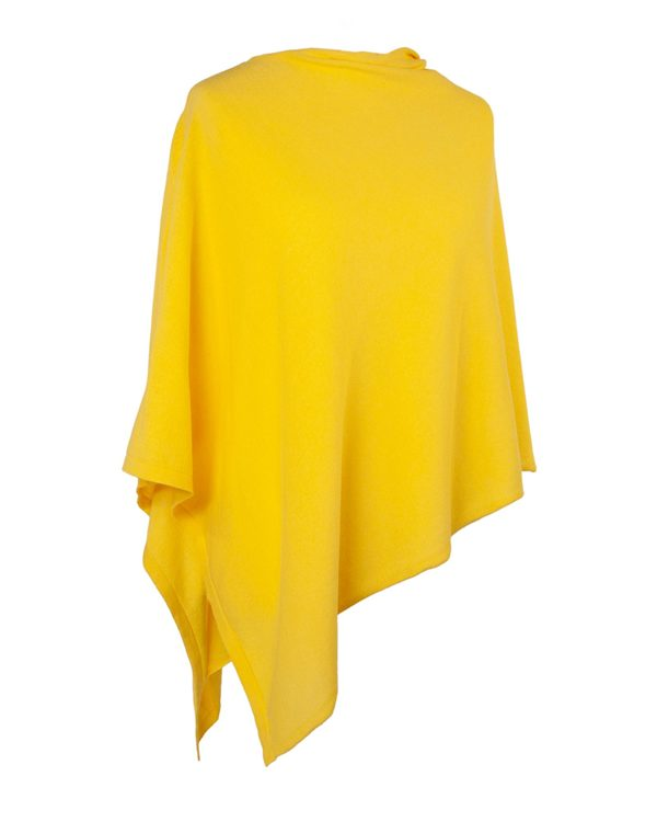 CADENZA ITALY | SUNFLOWER YELLOW ECO COTTON PONCHO