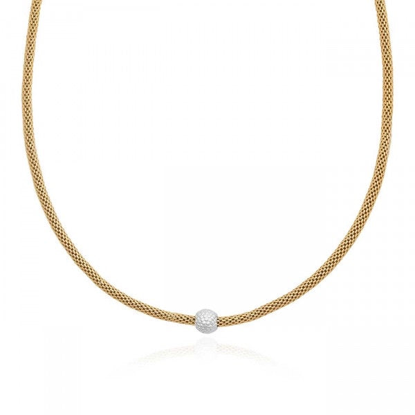 JOMA JEWELLERY | HALO VENETIAN CHAIN BOBBLE BEAD TWO TONE NECKLACE