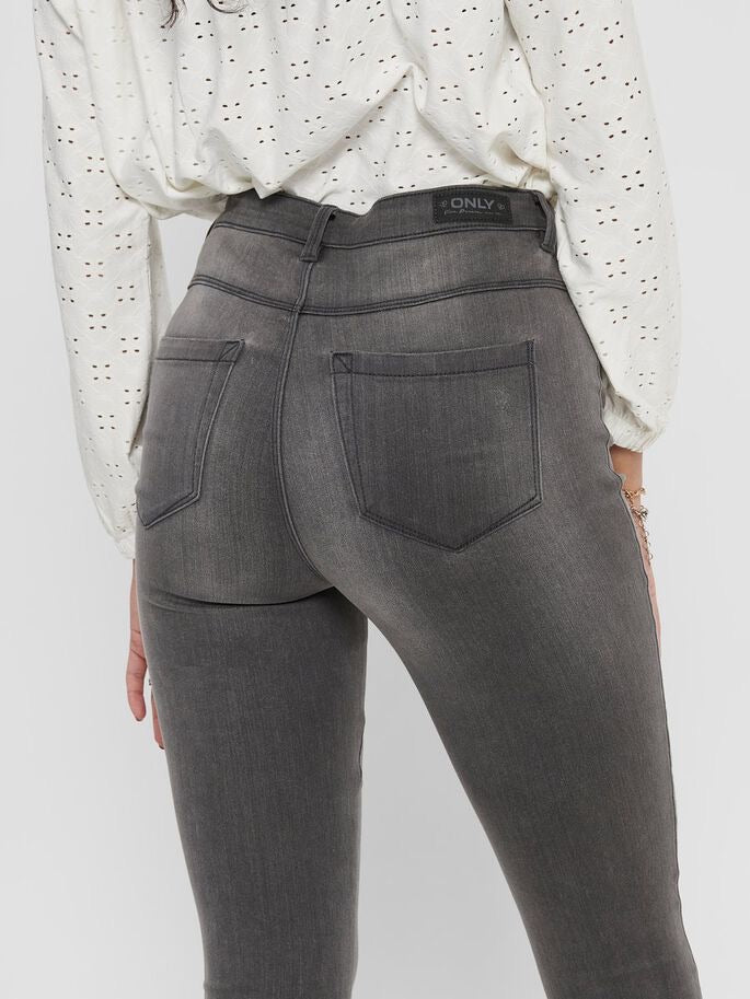 DARK GREY HIGH WAISTED SKINNY JEANS