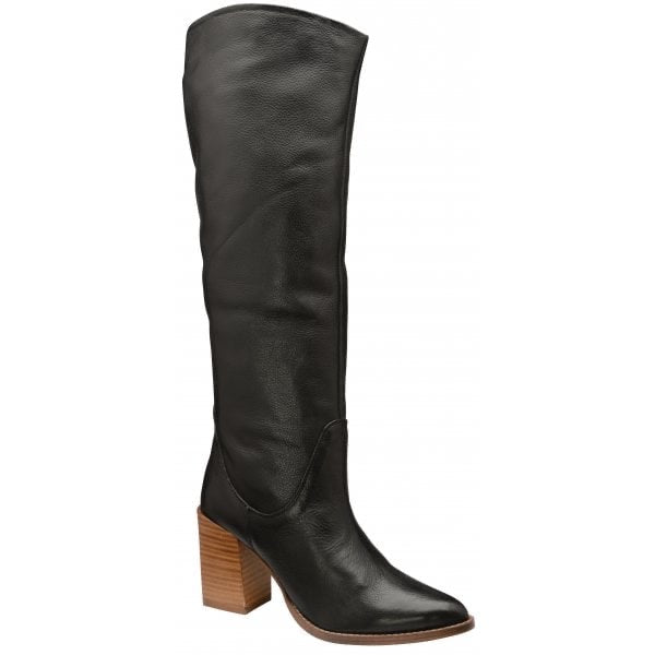 BLACK LEATHER LUMSDEN LONG BOOTS
