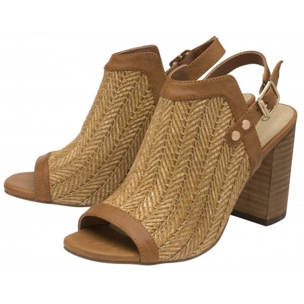 RAVEL | TAN CLIFTON HEELED SANDALS