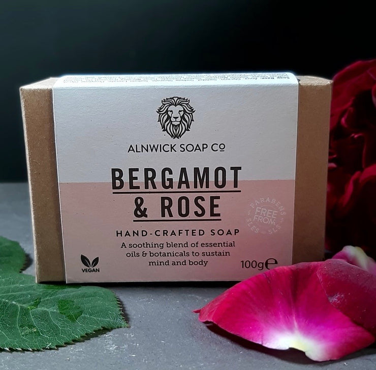 BERGAMOT & ROSE HAND CRAFTED SOAP