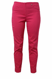 ROBELL | PINK AND WHITE SQUARE BELLA 09 TROUSERS