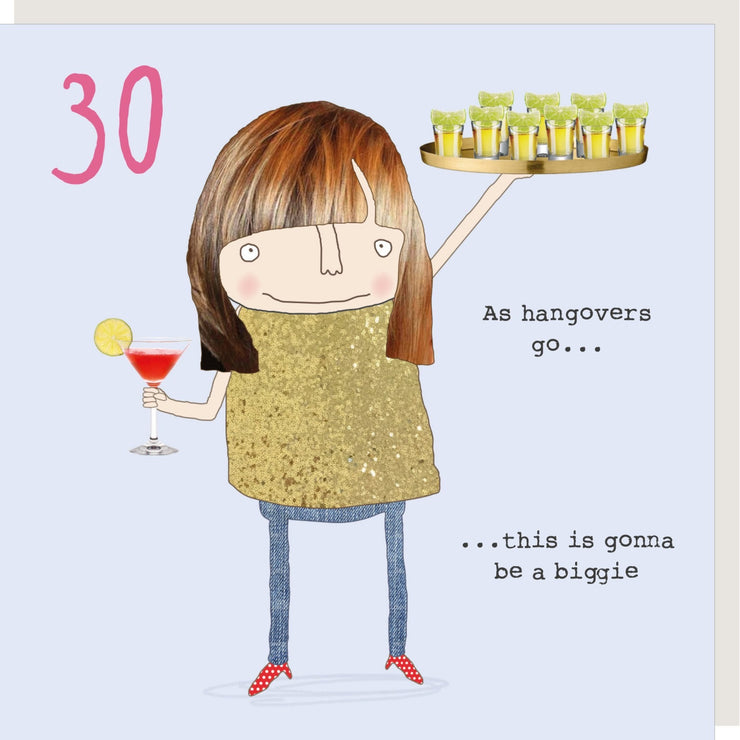 GIRL 30 HANGOVER CARD