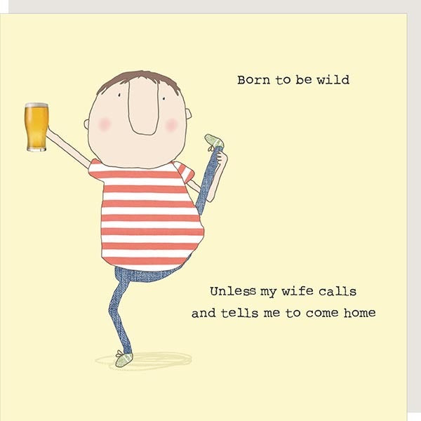 BORN TO BE WILD WIFE CARD