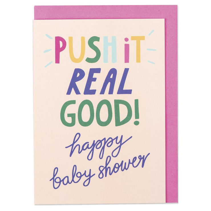 PUSH BABY SHOWER CARD