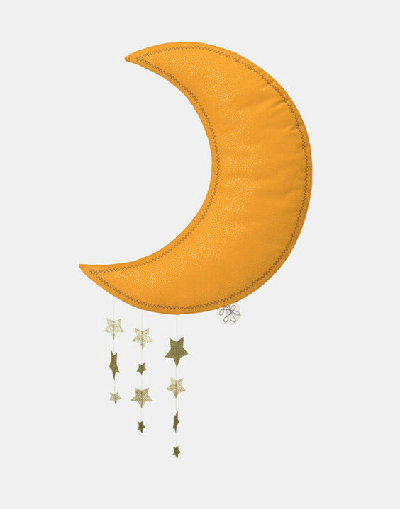 PICCA LOU LOU | YELLOW HANGING MOON WITH STARS
