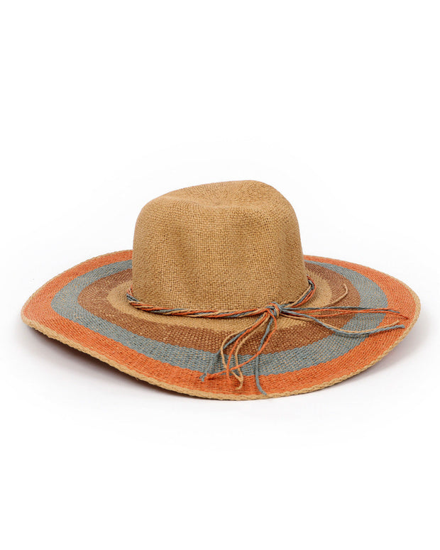 POWDER | NATURAL AVA STRIPE SUN HAT