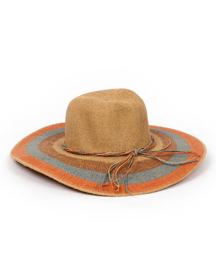 NATURAL AVA STRIPE SUN HAT