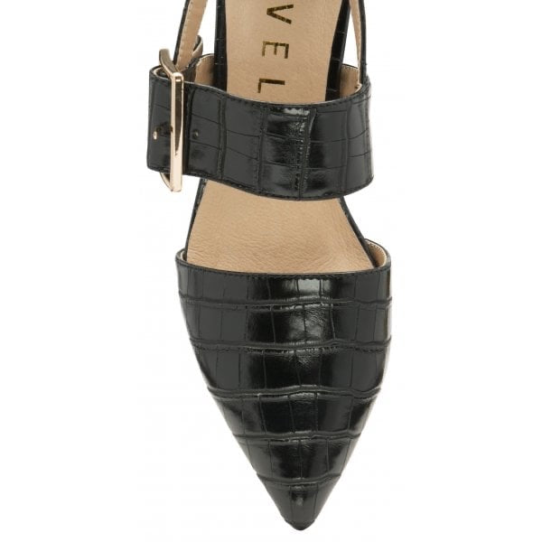 BLACK MAYFIELD CROC SHOES