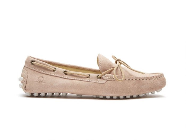 CHATHAM | PINK ARIA SUEDE DRIVING MOCCASINS