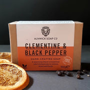 CLEMENTINE & BLACK PEPPER HAND CRAFTED SOAP