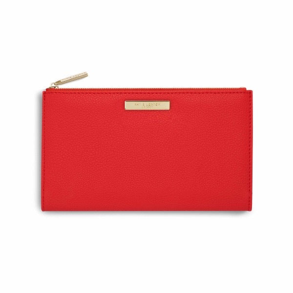 KATIE LOXTON | RED ALISE PEBBLE PURSE