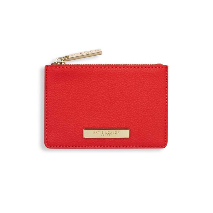 KATIE LOXTON | RED ALISE CARD HOLDER